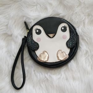 Betsey Johnson XoX Penguin Wristlet